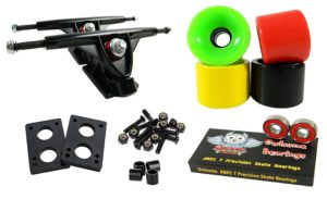 Longboard 180mm Trucks Combo w: 70mm Wheels + Owlsome ABEC 7 Bearings