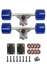 SCSK8 LONGBOARD Skateboard TRUCKS COMBO set w: 70mm WHEELS + 9.75 Truck Package